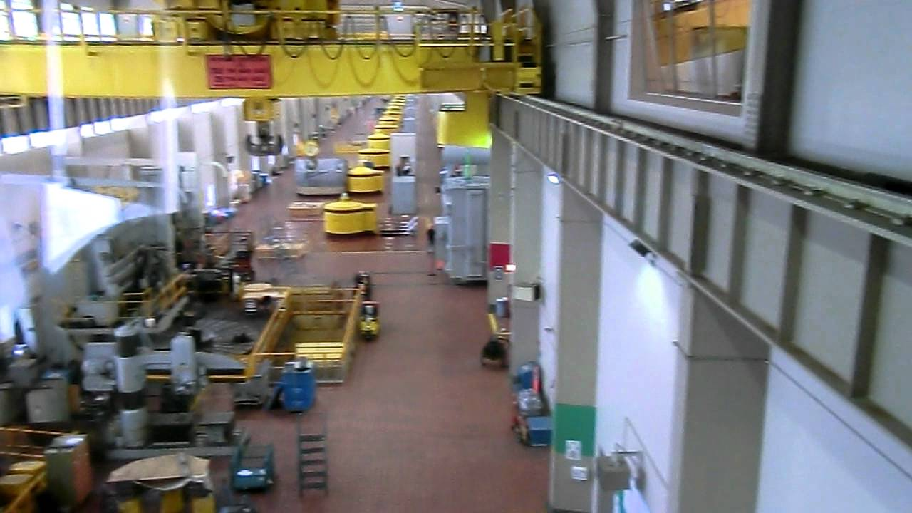 Turbine generators inside Niagara Canadian Hydro Electric Power Plant -3