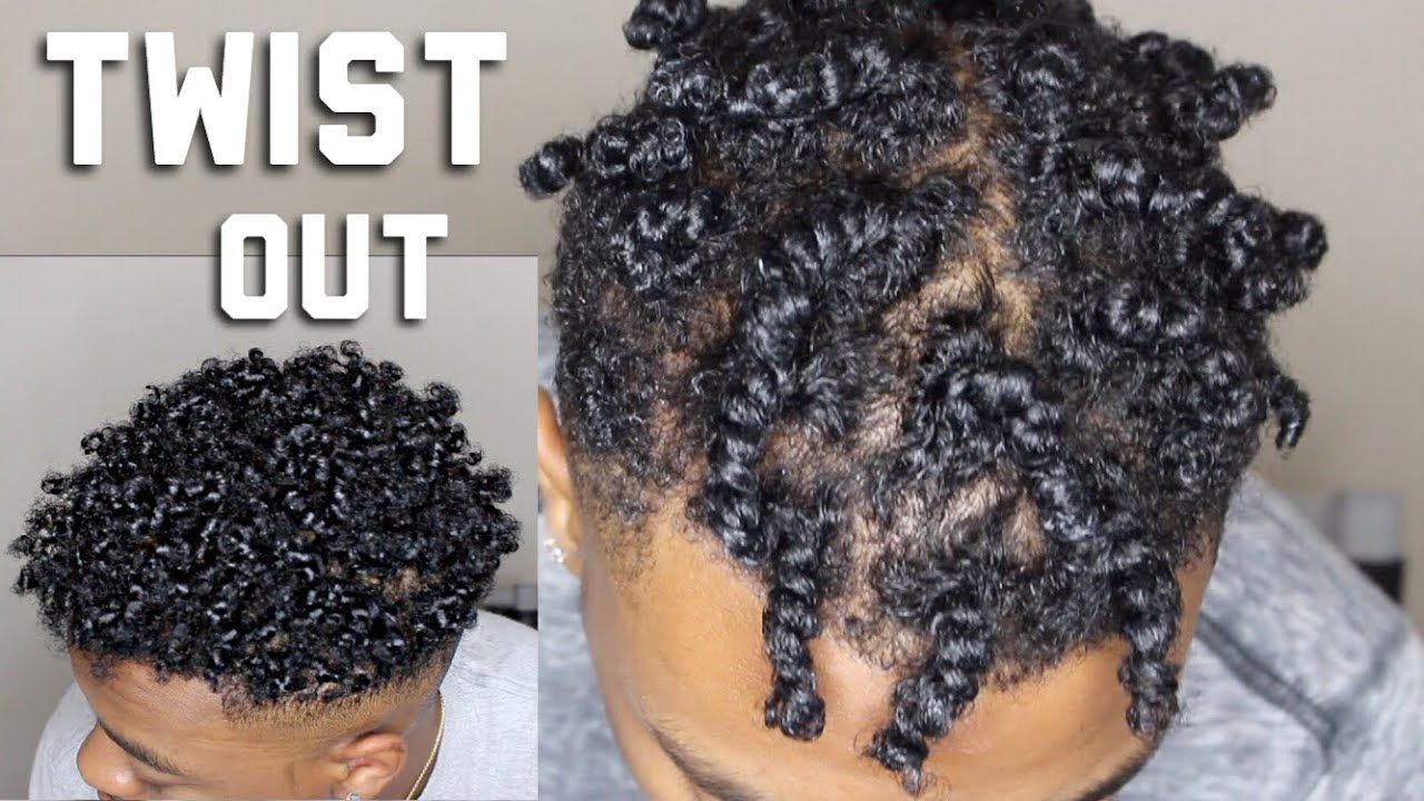 twist out for black men/ short natural hair