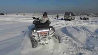 Dji phantom  CFmoto X8  дрифт по снегу на квадроцикле(первый снег., 2016-12-03T21:58:27.000Z)
