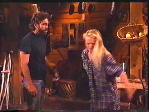 NBC Santa Barbara Eden Capwell (Marcy Walker) escapes from Cain (Scott Jaeck).