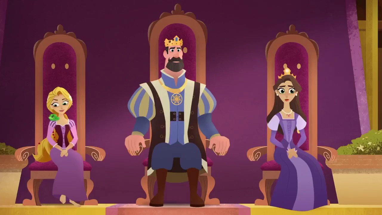 queen in training queen for a day tangled the series youtube. Black Bedroom Furniture Sets. Home Design Ideas