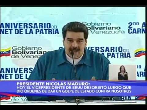 Maduro reacciona tras declaraciones de Mike Pence: ordena revisar relaciones con EEUU