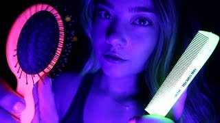 ASMR BRUSHING YOU INTO THE DEEPEST SLEEP! Brush & Comb Sounds, Hand Movements, Whispering