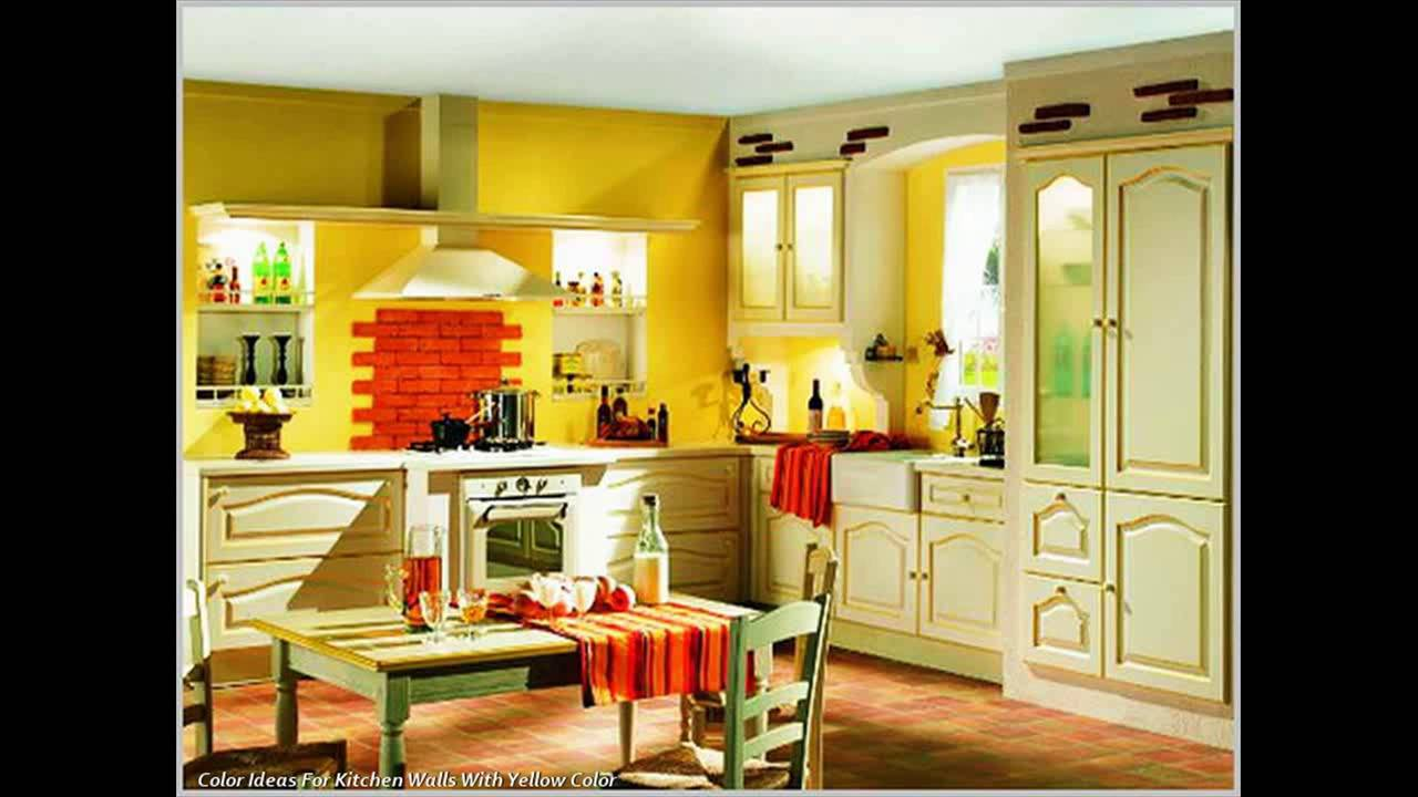 Color scheme Tips for Kitchen Walls - YouTube