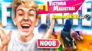 DEJAMOS GANAR AL MAYOR NOOB QUE HE VISTO EN FORTNITE