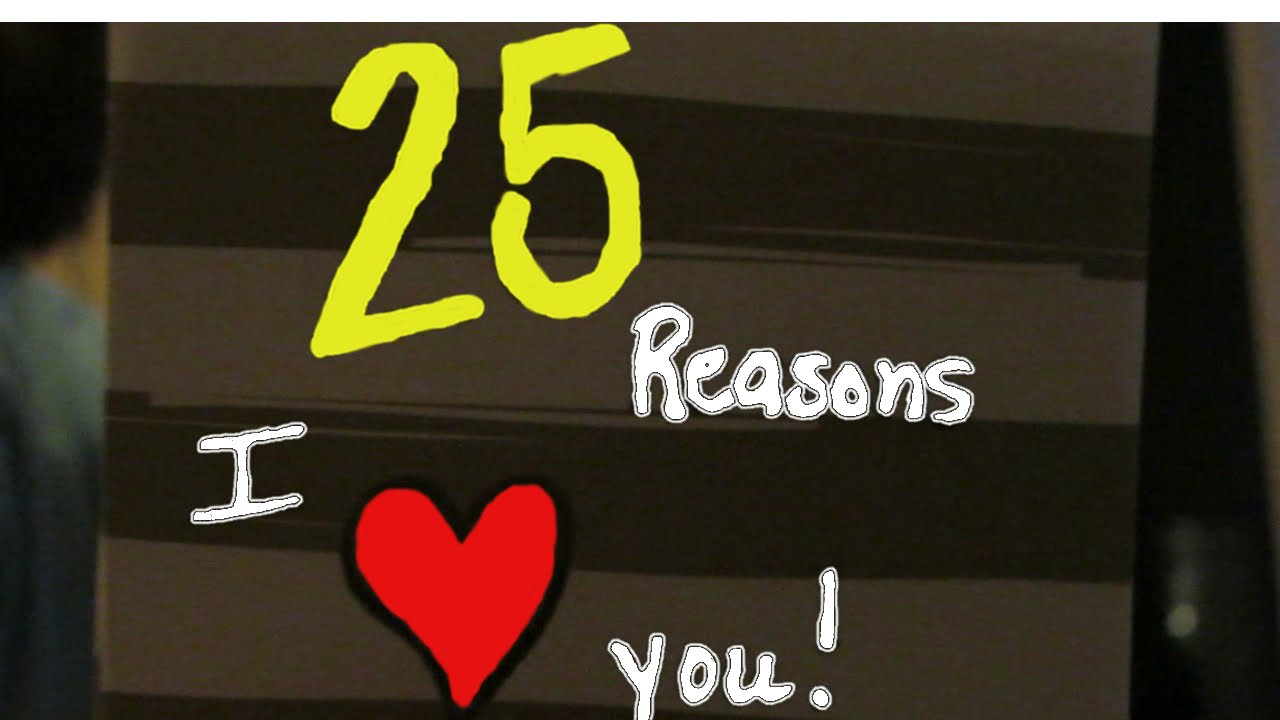 DIY Husband Birthday 25 Reasons I Love You Cards
