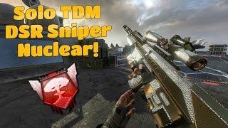 DSR-50 Sniper Nuclear! - Black Ops 2 TDM PC - 1080p 60fps