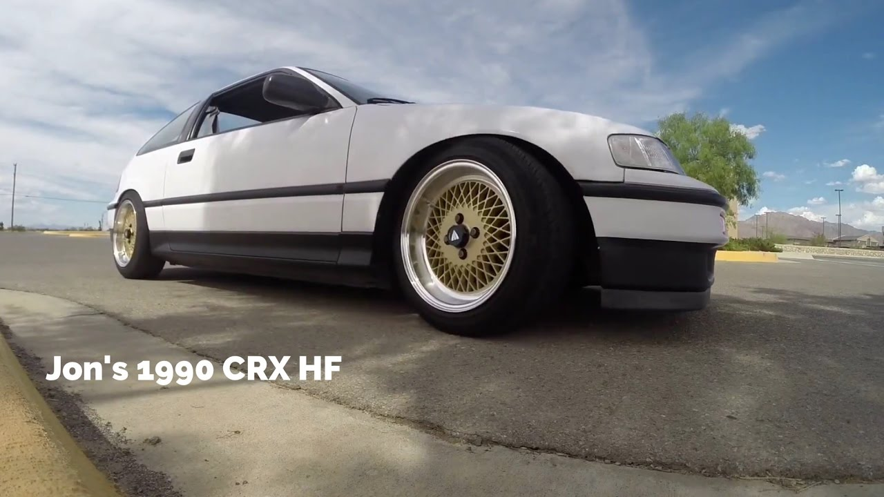My old CRX HF - 1991 on Enkei 92 wheels - YouTube