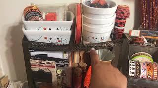 Halloween Craft Corner Prep 2017 - Raskog Cart Set Up