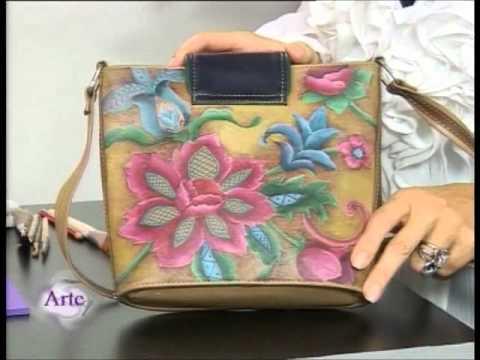 C mo reciclar una cartera de cuero con pintura para telas - Telas para decorar ...