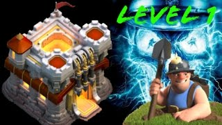 Level 1 miner attack in town hall 11 - clash of clans miner attack