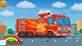Cuci Mobil Truk Pemadam Kebakaran dan Truk Trailer Game Review - Duploku
