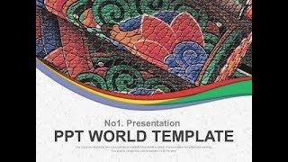 곡선 한지 PPT 템플릿 화려한 전통문양의 기와(자동완…