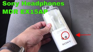 ✅ How To Use Sony Headphones MDR EX15AP Review