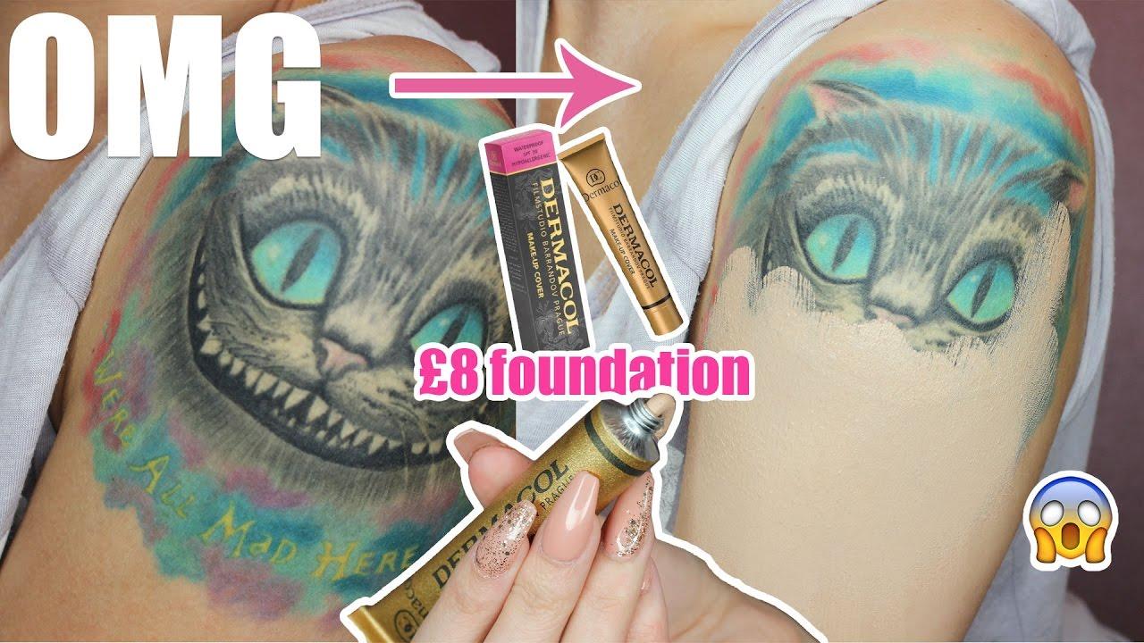 Tattoo cover makeup