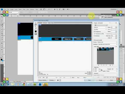 Basic Web Layout with Photoshop,how to SLice and export to dreamweaver