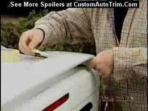 Rear Spoilers - How to install a rear spoiler on a trunk / deck lid   CustomAutoTrim.Com