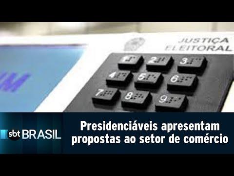 Presidenciáveis apresentam propostas para o setor de comércio e serviços | SBT Brasil (14/08/18)
