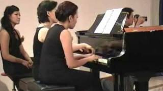 "PI. Tchaikovsky ""Sleeping Beauty Waltz"" op. 66, No. 6 for 2 pianos, 8 hands (2nd camera)"