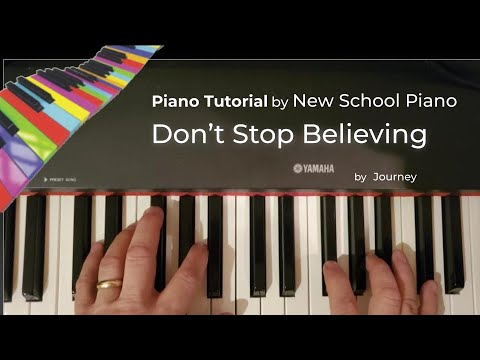How to play Don't Stop Believing piano tutorial Journey