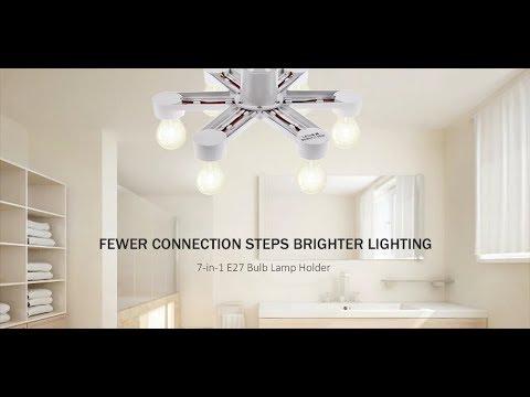 7-in-1 E27 LED Bulb Base Light Lamp Holder