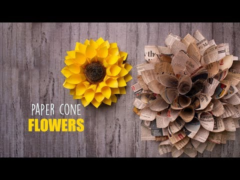 2 Easy Paper Flowers | Home Decor | Wall decor