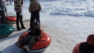 Istebna Zagroń, wyciąg na pontony, góry zimą, snow, winter, montain snow fun