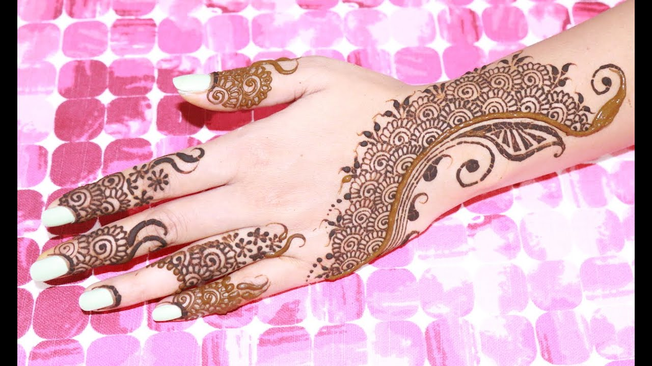 I Mehndi Henna Images : Unique henna mehndi tutorial using filler designs youtube