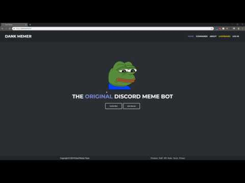 How To Add Dank Memer Bot To Your Discord Server Youtube