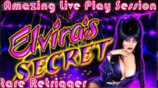 LIVE PLAY on Elvira Slot Machine with Bonuses and Huge Win!!!