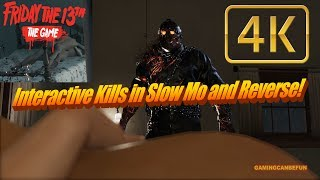 ALL INTERACTIVE CHALLENGE KILLS IN SLOW MO AND REVERSE! (PC 4K 60FPS) | FRIDAY THE 13TH THE GAME