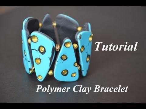 Polymer Clay Bracelet Tutorial Fimo Armband браслет из полимерной глины мк