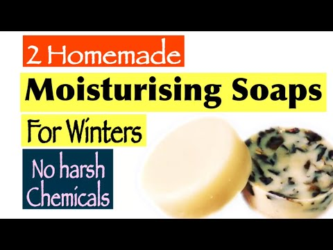 2 HomeMade Moisturising Soap | How To Make Soap At Home  | DIY Shea Butter Soap For Winters | Hindi