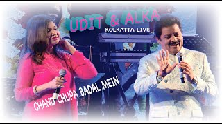 Chand Chhupa Badal Mein || Hum Dil De Chuke Sanam || Udit & Alka|| Duet Song || Live In  Concert