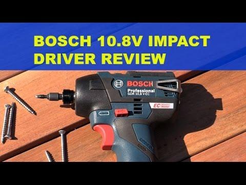 tool review bosch gdr 10 8v ec impact driver youtube. Black Bedroom Furniture Sets. Home Design Ideas
