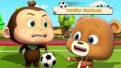 rangaistuspotkuillaulos | hauska jalkapallo | Loco Nuts | Penalty Shootout | Kids Tv Suomi