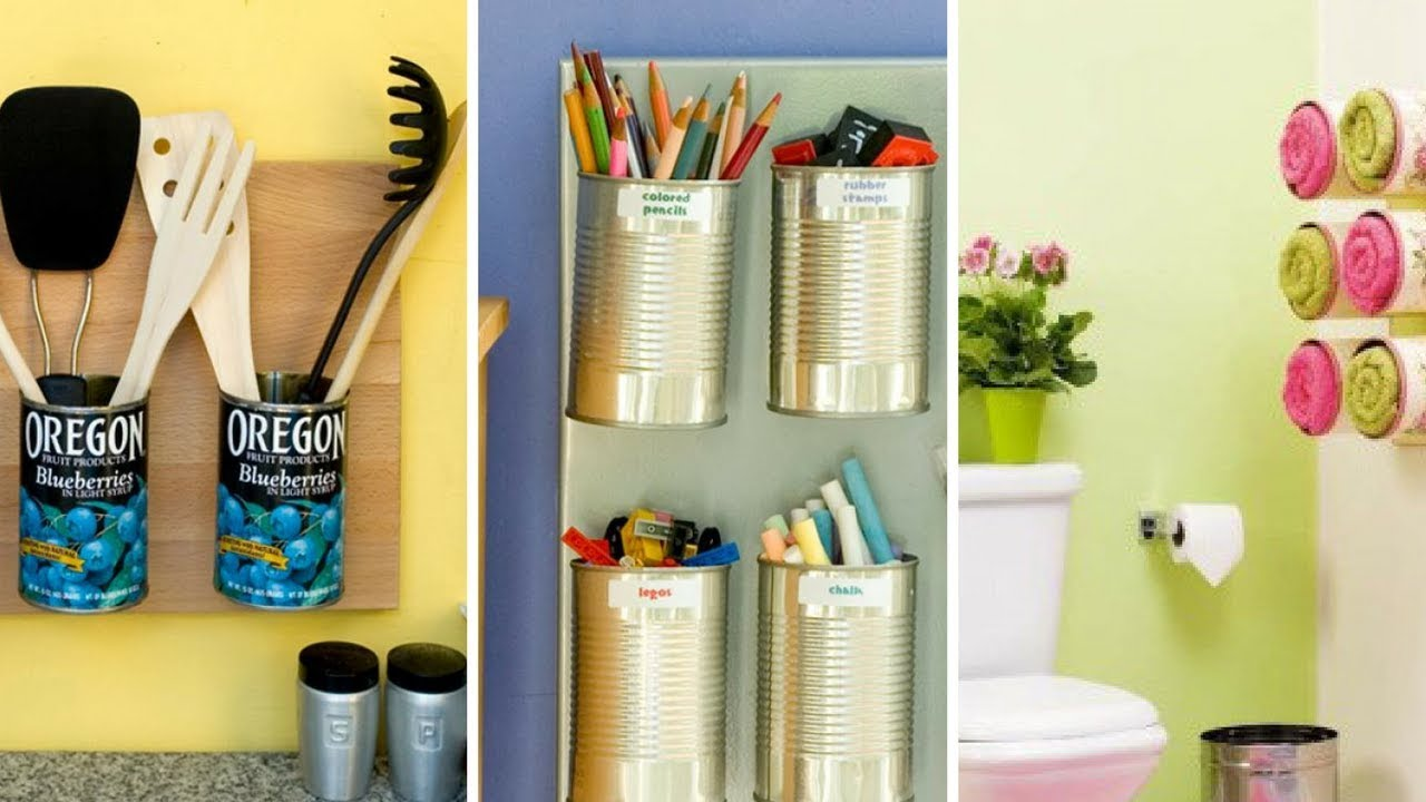 extremely creative wall storage ideas. 5 Extremely Easy and Creative Storage Ideas from Tin Can  YouTube