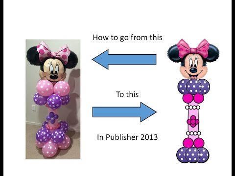 Publisher Tutorial: How to Make a Balloon Pedestal with a Character Head