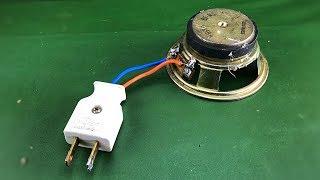 New Free Energy Power Speaker Magnet Generator Easy Homemade Good Technology Idea 2019