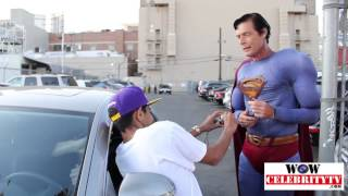 Dean Cain meats Hollywood superman Christopher Dennis at Jimmy Kimmel live