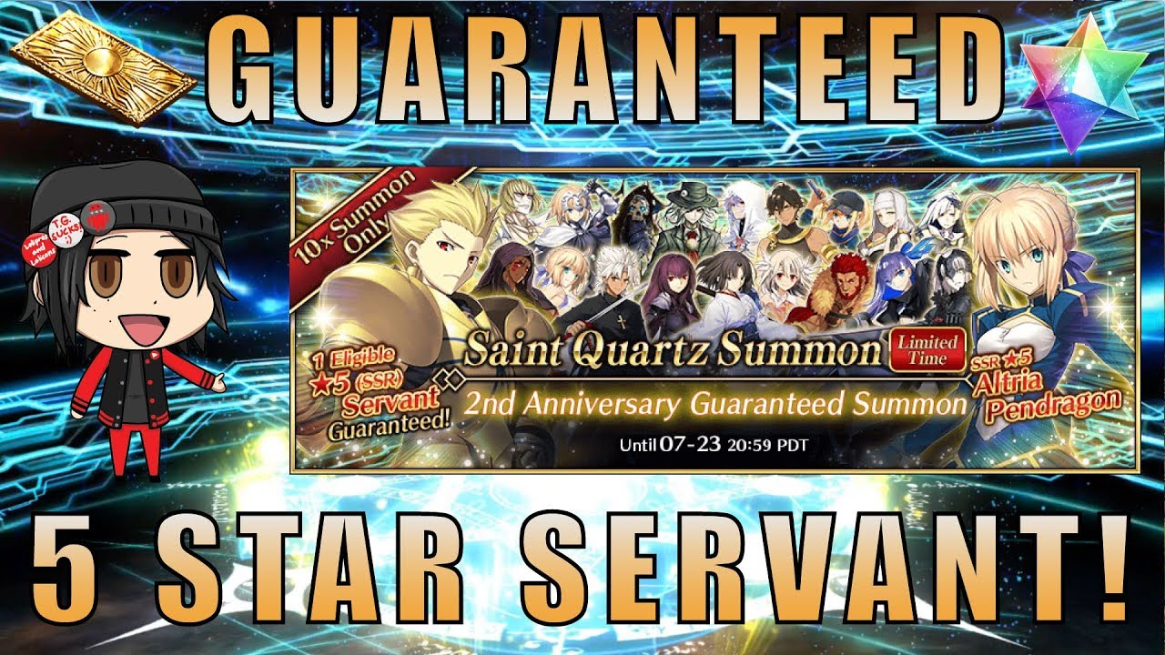 2nd Anniversary Guaranteed Summon Fate/Grand Order NA