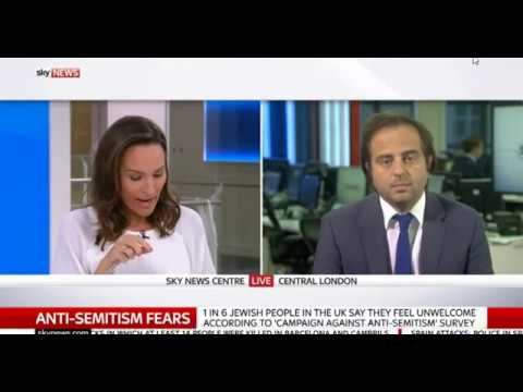 Jewish News Editor Richard Ferrer on Sky News discussing YouGov/CAA poll
