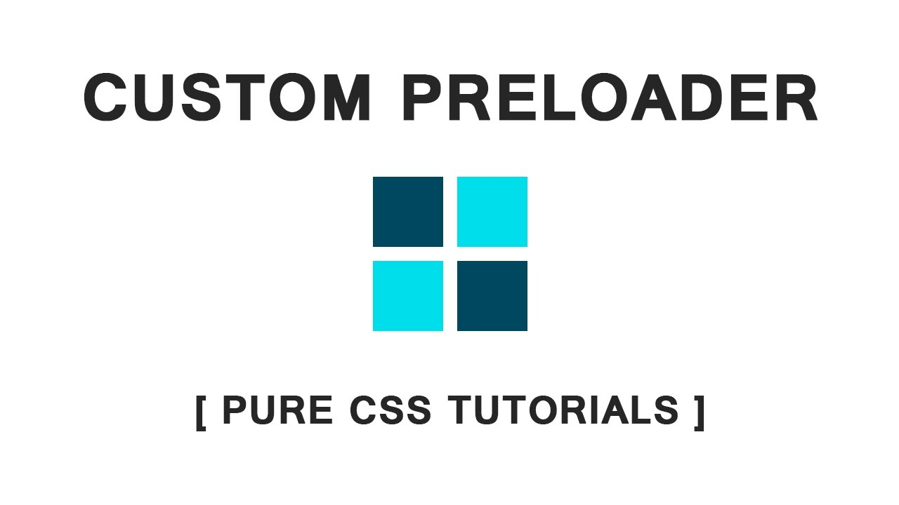 CSS Custom Preloader Animation - Pure CSS Tutorials - How to make CSS  Animated Loader Page