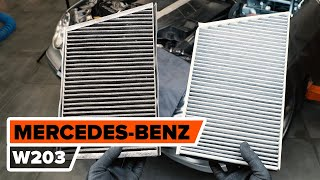 Salona filtrs uzstādīšana MERCEDES-BENZ C-CLASS (W203): bezmaksas video