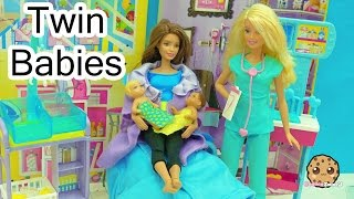 Dr. Barbie Baby Doctor - Twin Babies Are Born! Medical Doll + Twozies with Surprise Blind Bags
