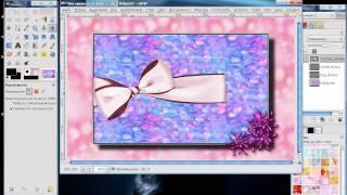 Создание рамки для блога в GIMP