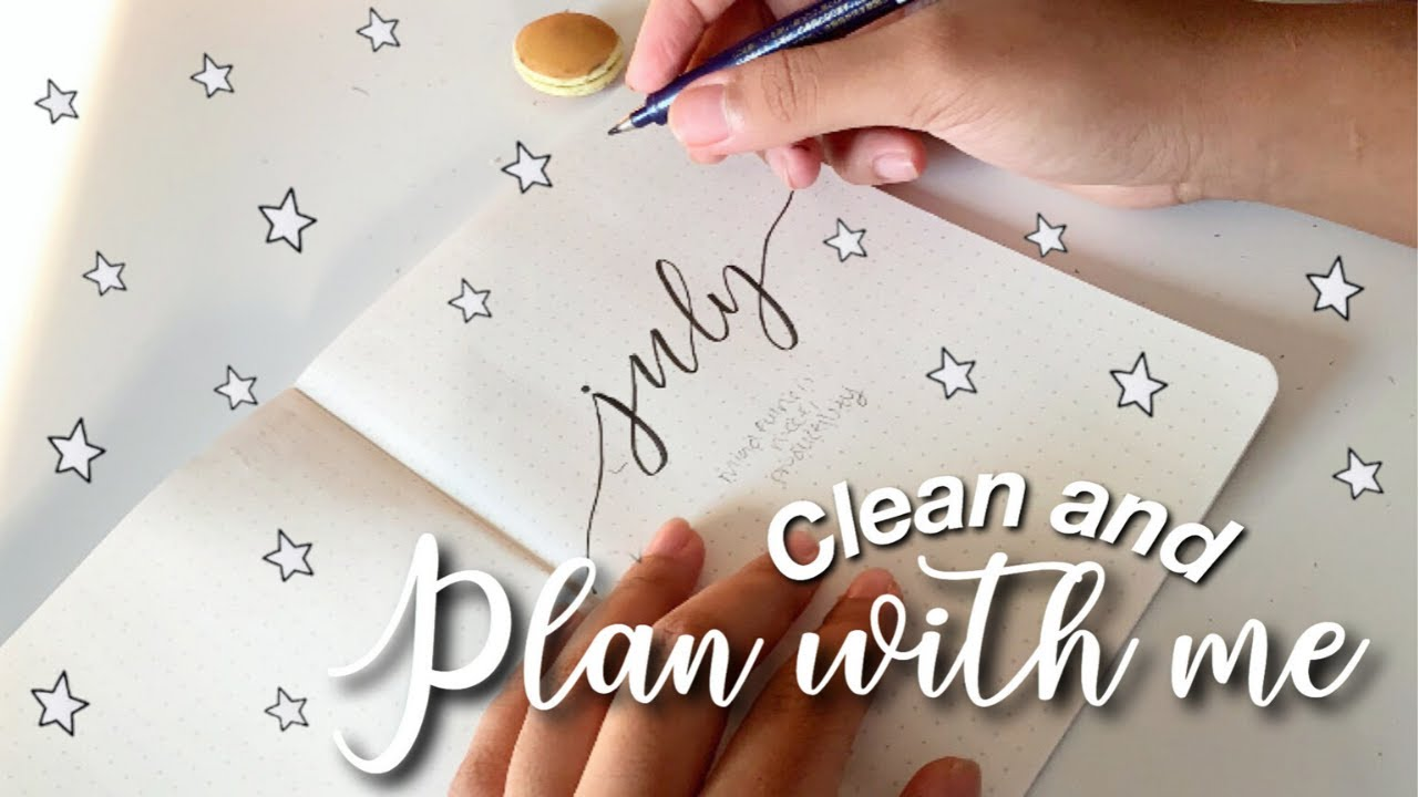 a productive clean & plan with me ✏️ ✨