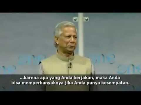 Social Business : Bangladeshi Muhammad Yunus of Grameen Bank (Subtittle Indonesia)