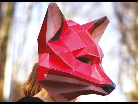 Paper Fox Mask From Epistory Build Up Youtube