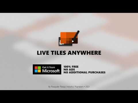 Live Tiles Anywhere - Customizable and widgetizable Live Tiles!